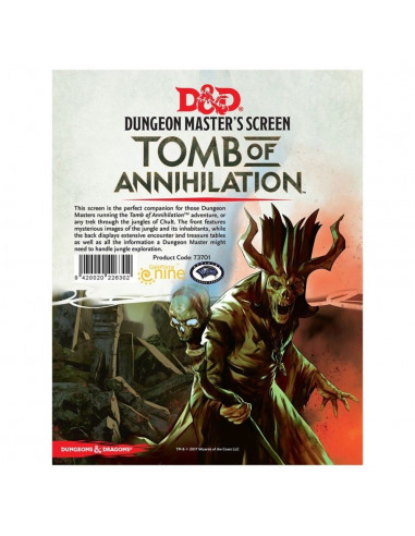 D&D 5th Ed. Dungeon Master Screen Tomb of Annihilation
