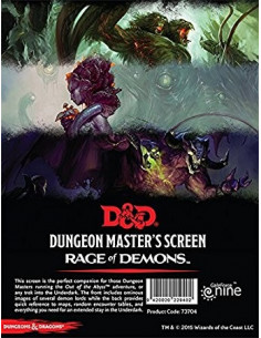 D&D Rage of Demons Dungeon Master Screen