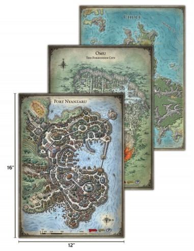 D&D 5th Edition Tomb of Annihilation Map Set