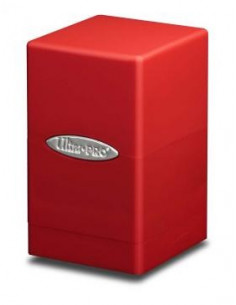 Deck Box Satin Tower Red