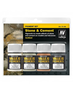 Vallejo Stone & Cement Pigment Set (4x35ml)