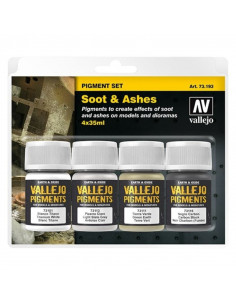 Vallejo Soot & Ashes Pigment Set (4x35ml)