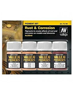 Vallejo Rust & Corrosion Pigment Set (4x35ml)