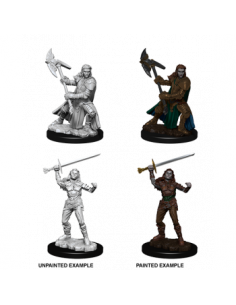 D&D Nolzur´s Miniatures Female Half-Orc Fighter