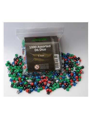 Assorted D6 Dice 1000