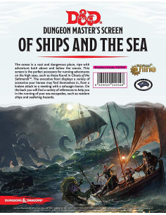 D&D 5th Edition DUngeon Master Screen Of Ships And The Sea