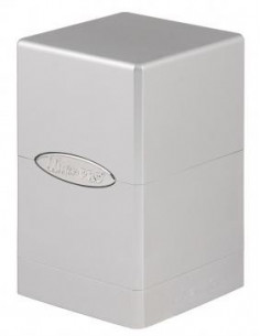 Deck Box Satin Tower Metallic Silver