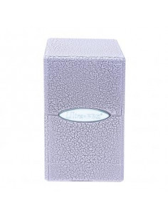Deck Box Satin Tower Ivory Crackle Hi-Gl