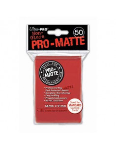 Card Sleeves Pro-Matte Red