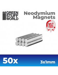 Neonydium Magnets 3x1mm 50p...